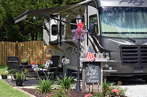 Beautiful rv site at all about relaxing rv park in mobile alabama