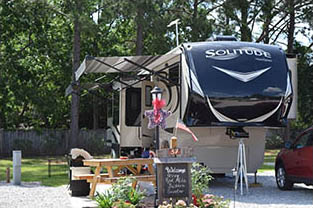 Beautiful RV Site in Mobile AL, at All Abount Relaxing RV Park